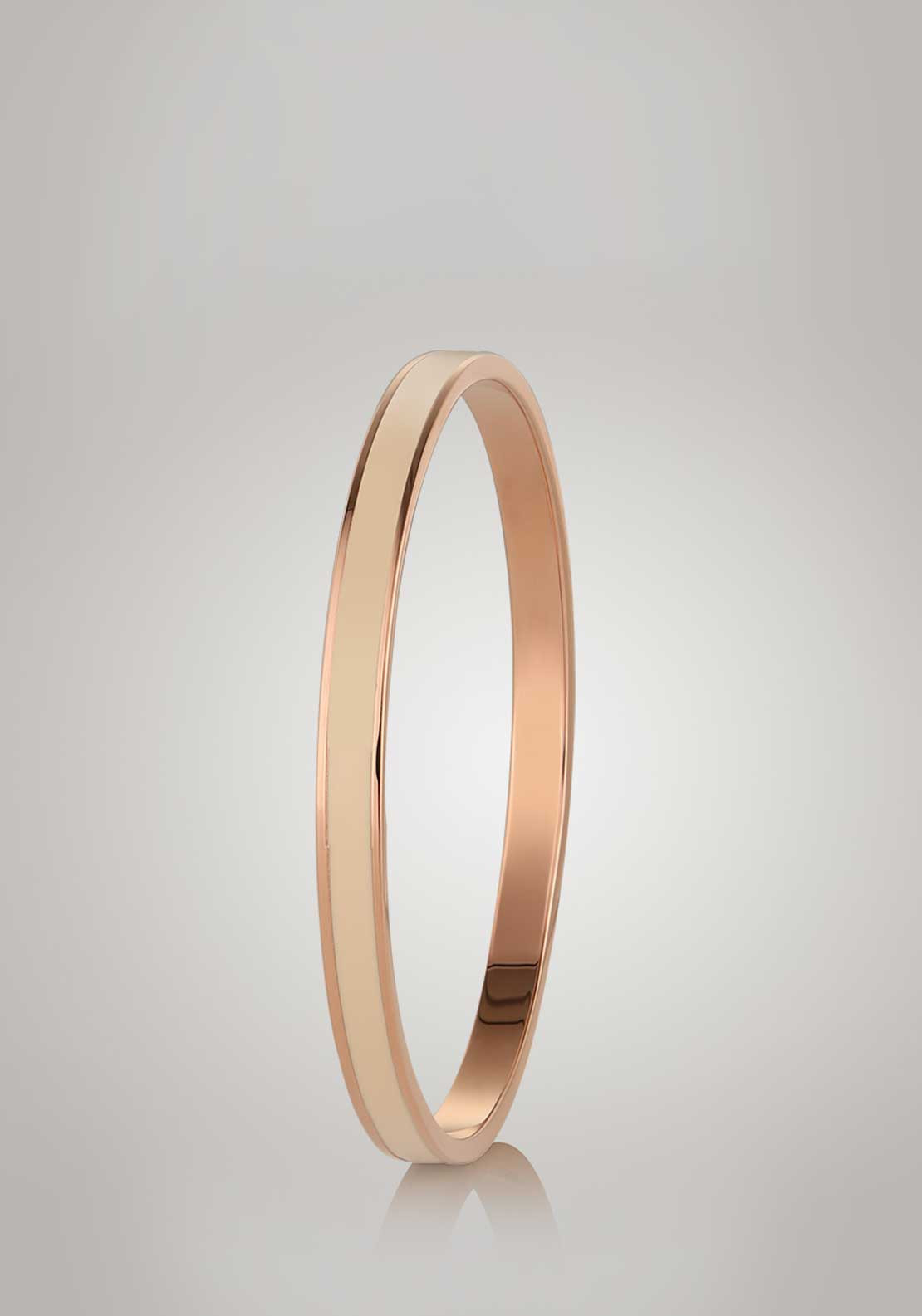 Newbridge Silverware Small Cream Bangle, Rose Gold