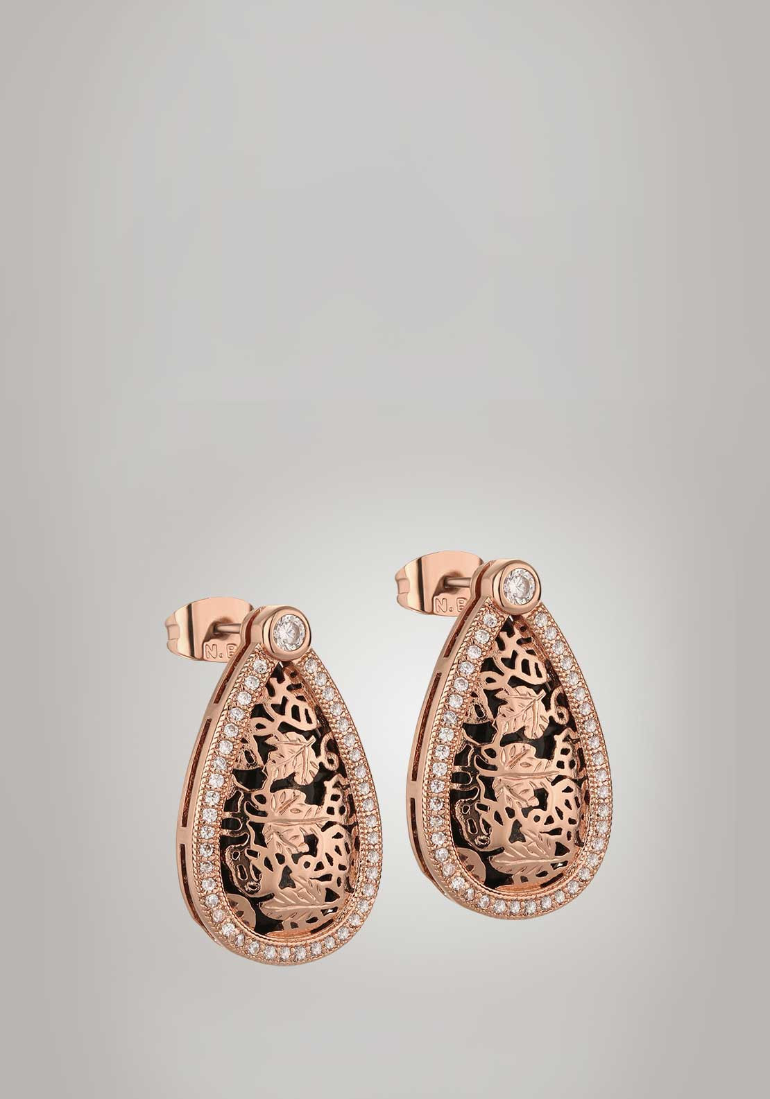 Newbridge Silverware Guinness Black Hops Earrings, Rose Gold