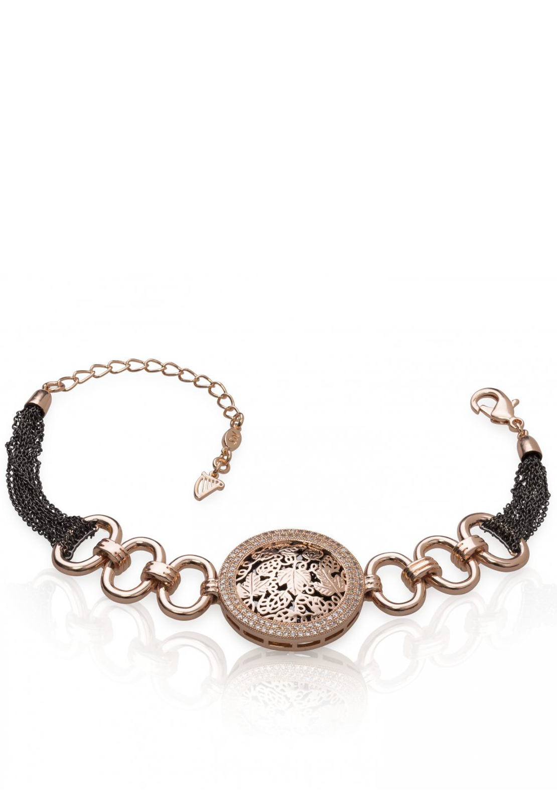 Guinness Newbridge Silverware Rose Gold Plated Bracelet, Rose Gold