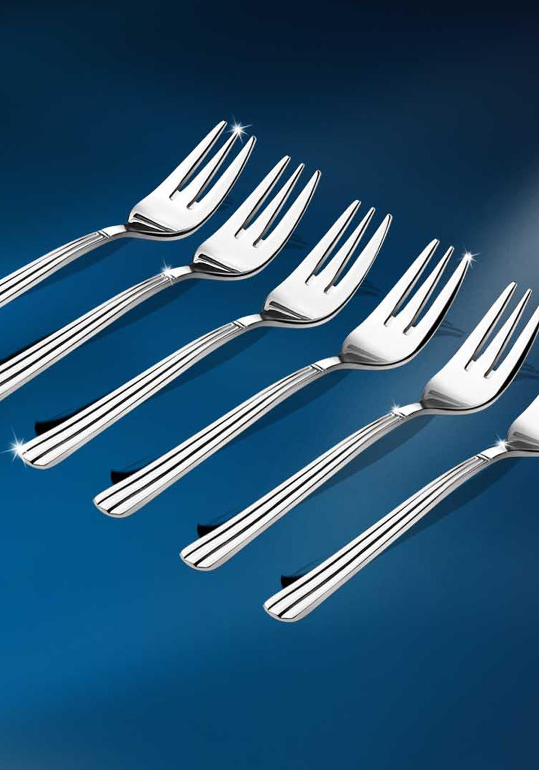 Newbridge Nova Stainless Steel Pastry Fork Set, Set of 6