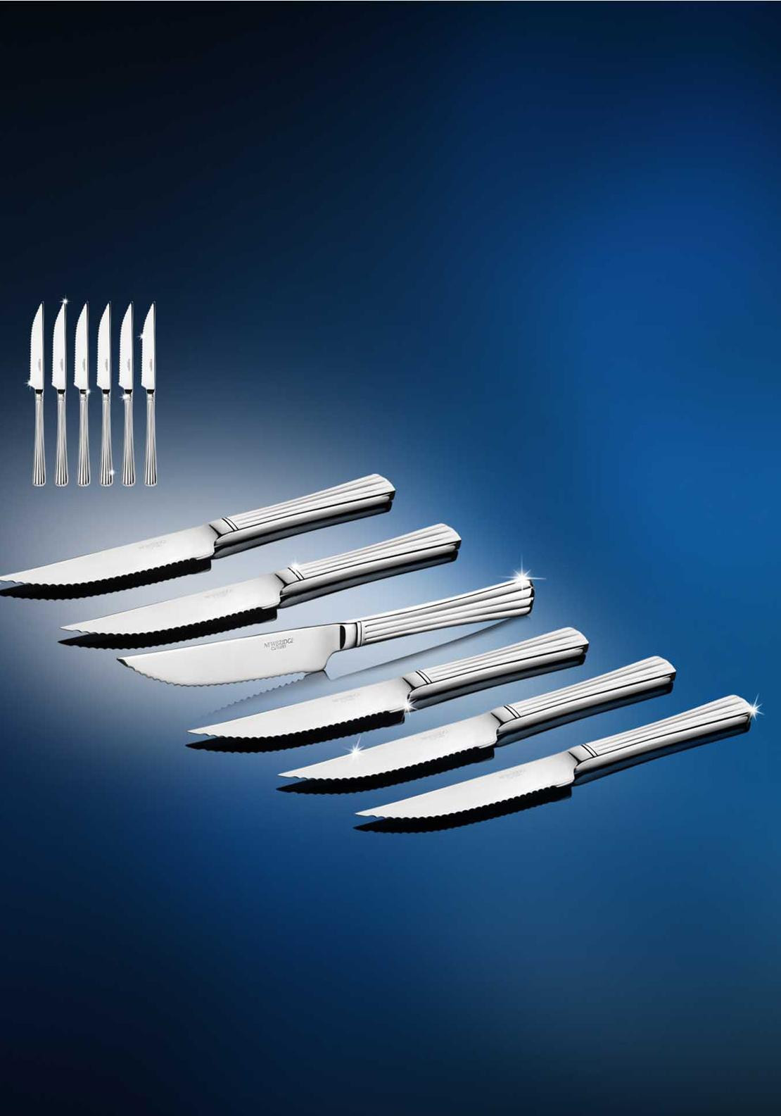 Newbridge Nova Stainless Steel Steak Knives, Set of 6