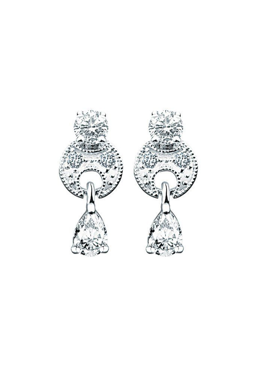 Newbridge Vintage Clear Drop Earrings