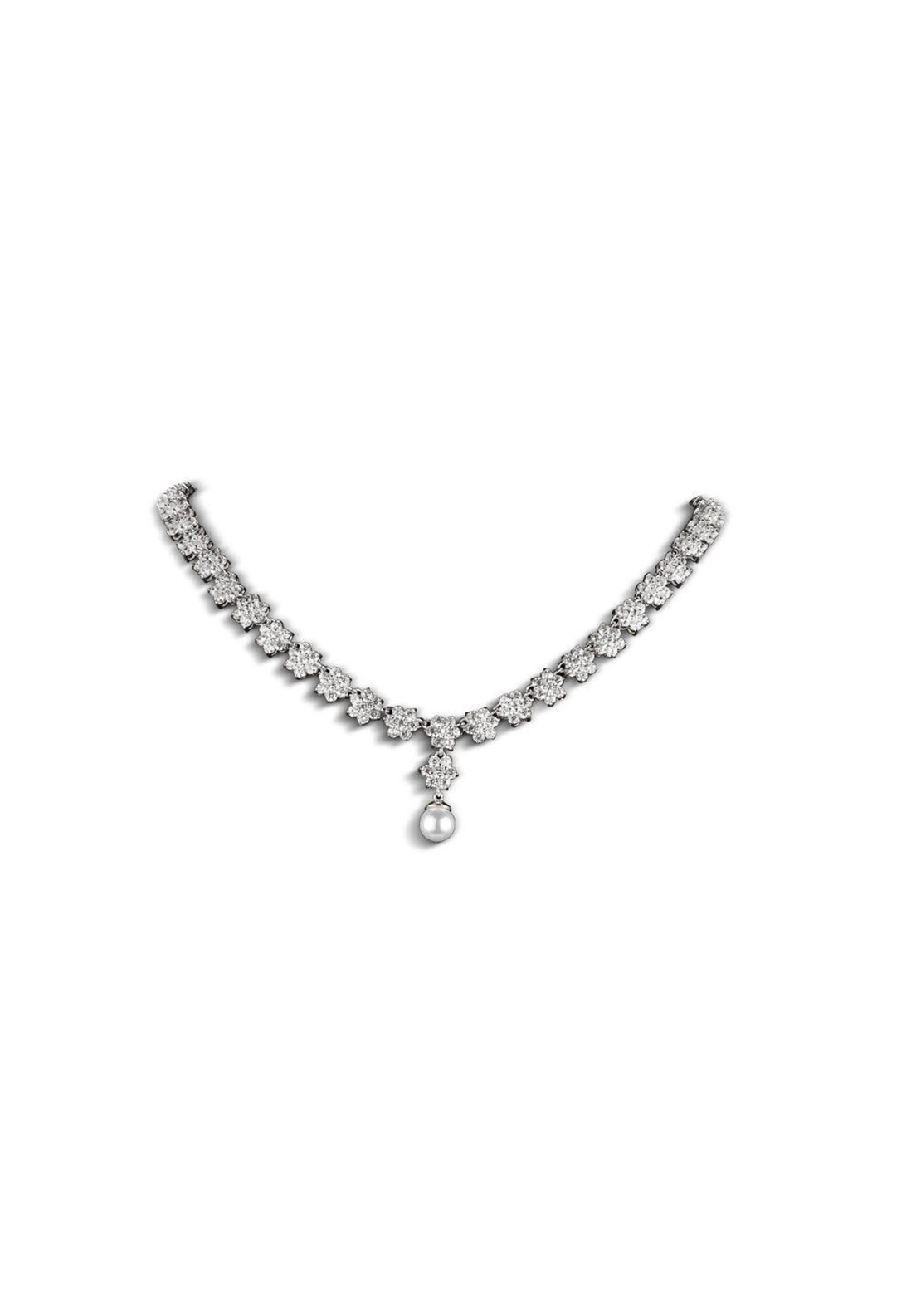 Newbridge Princess Grace Collection Necklace, Silver