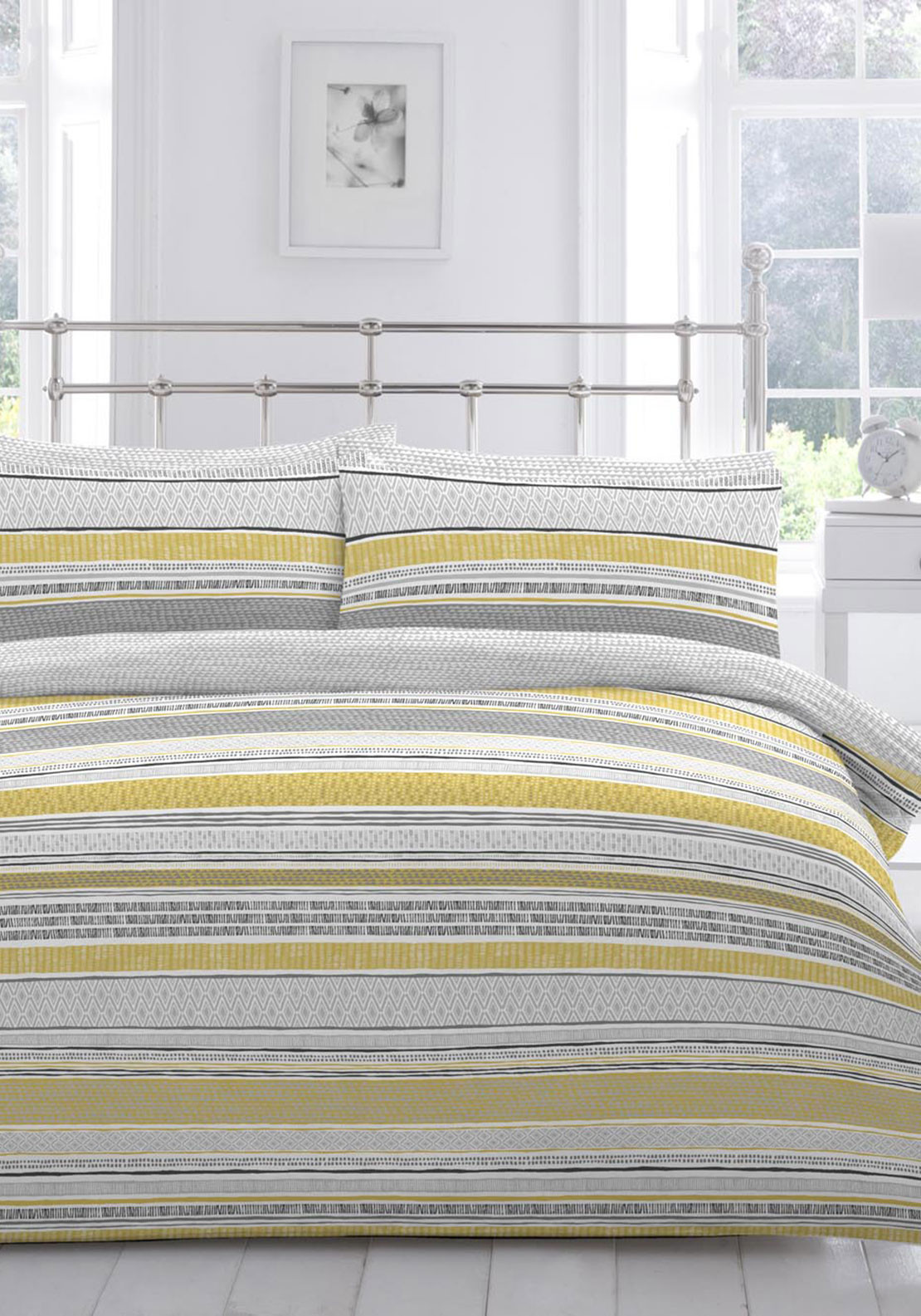 Nineteen11 Tanami Duvet Cover Set, Yellow Multi