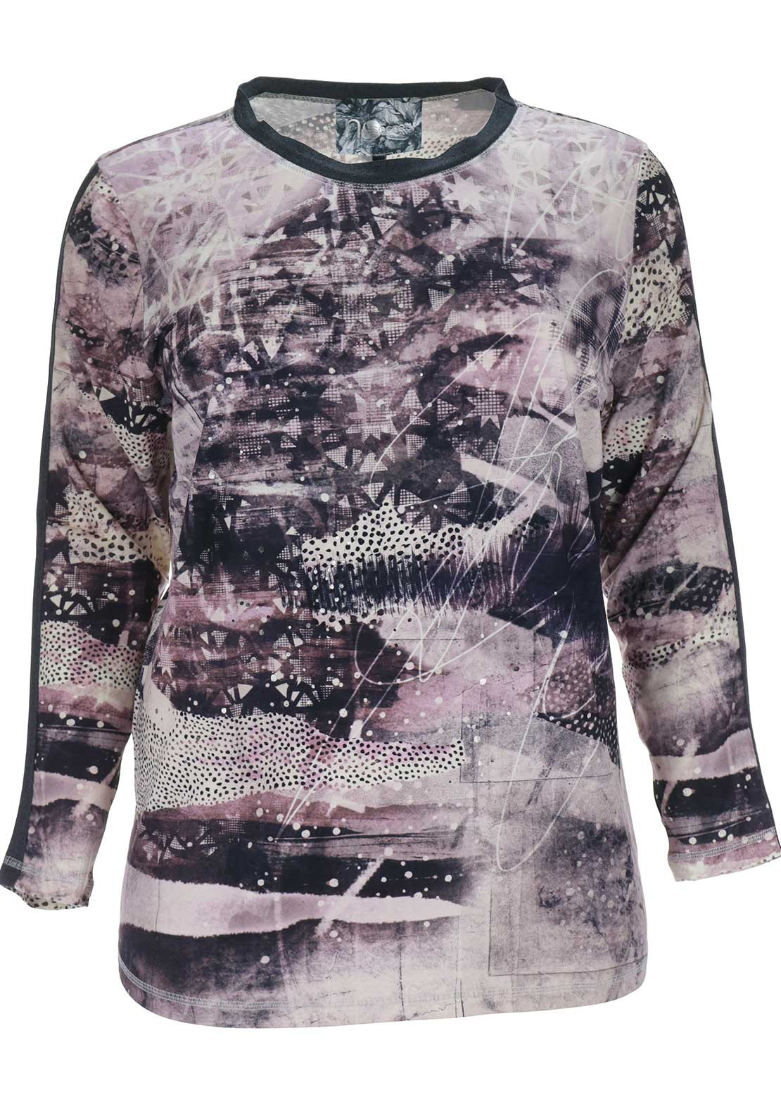 No Secret Printed Long Sleeve Top, Multi-Coloured