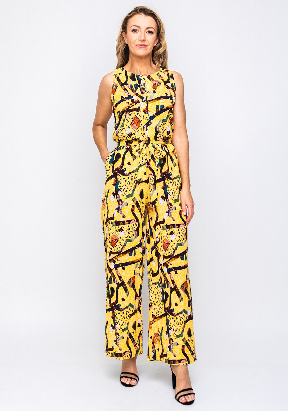 be5776ba6e5 Not Is Not Graphic Wide Leg Jumpsuit