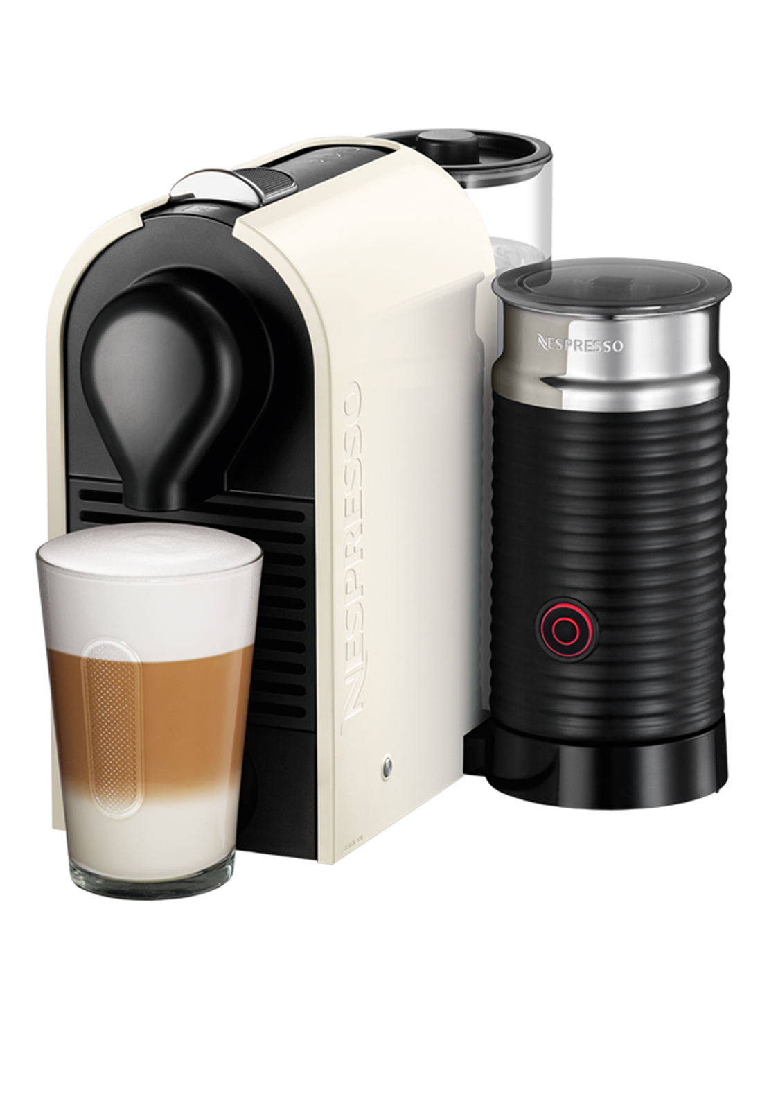 Nespresso Krups U & Milk Pure Cream Coffee Machine, Cream
