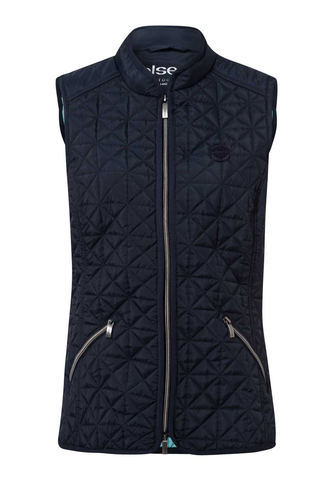 Olsen Diamond Quilted Gilet, Navy