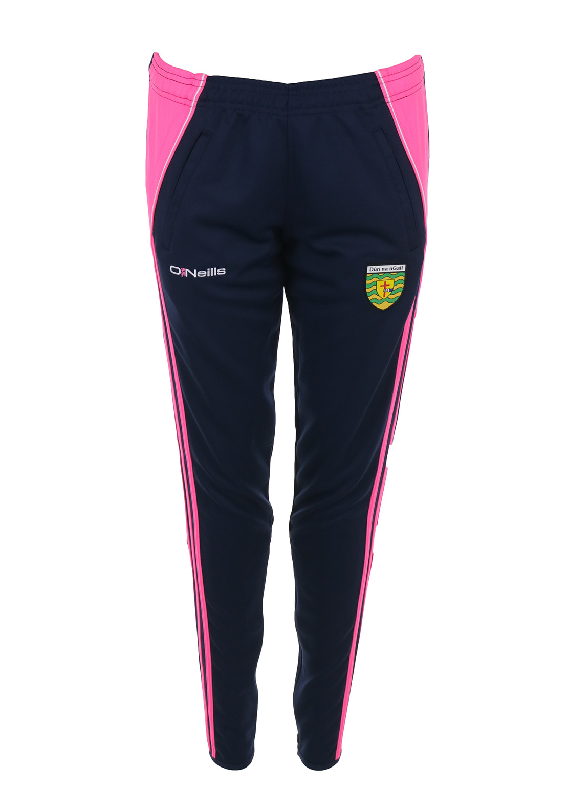 O'Neill's Donegal GAA Girls Conall Striped Skinny Pants, Navy