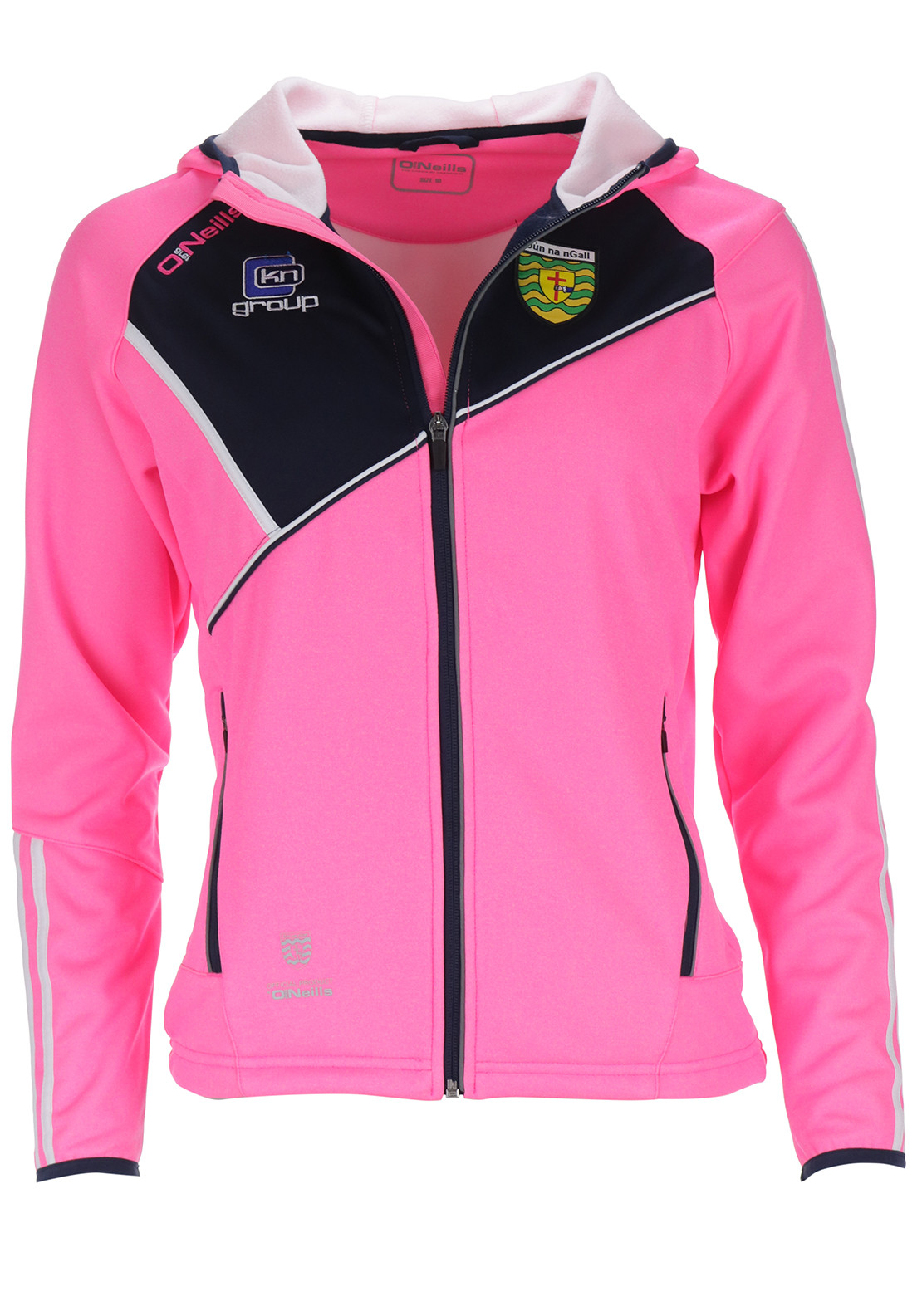 O'Neill's Donegal GAA Womens Conall Hooded Jacket, Pink
