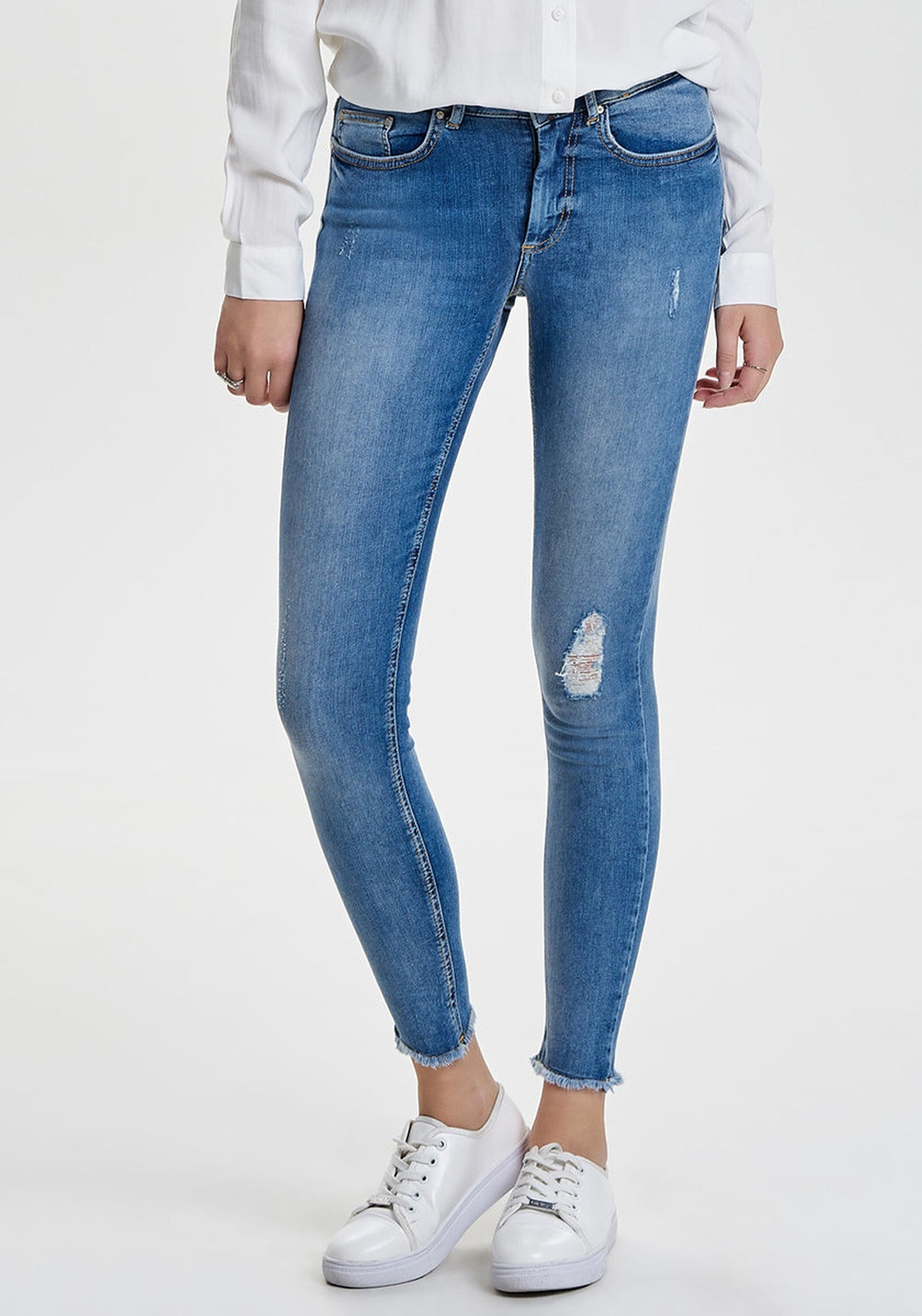 3db3c569dc Only Blush Ankle Raw Skinny Jeans, Light Blue