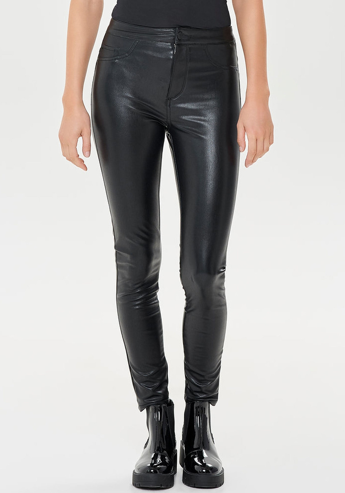 35f534ff314a90 Only Rush High Waist Leather Look Leggings, Black. Be the first to review  this product. Only Rush High Waist Leather Look Leggings ...