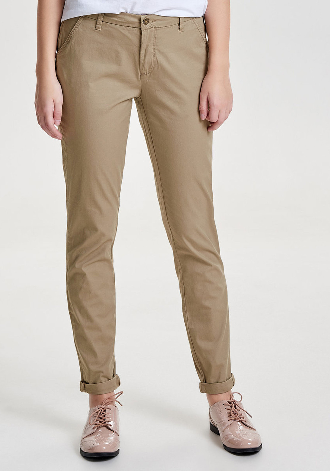 Only Paris Regular Fit Chino Trousers, Taupe
