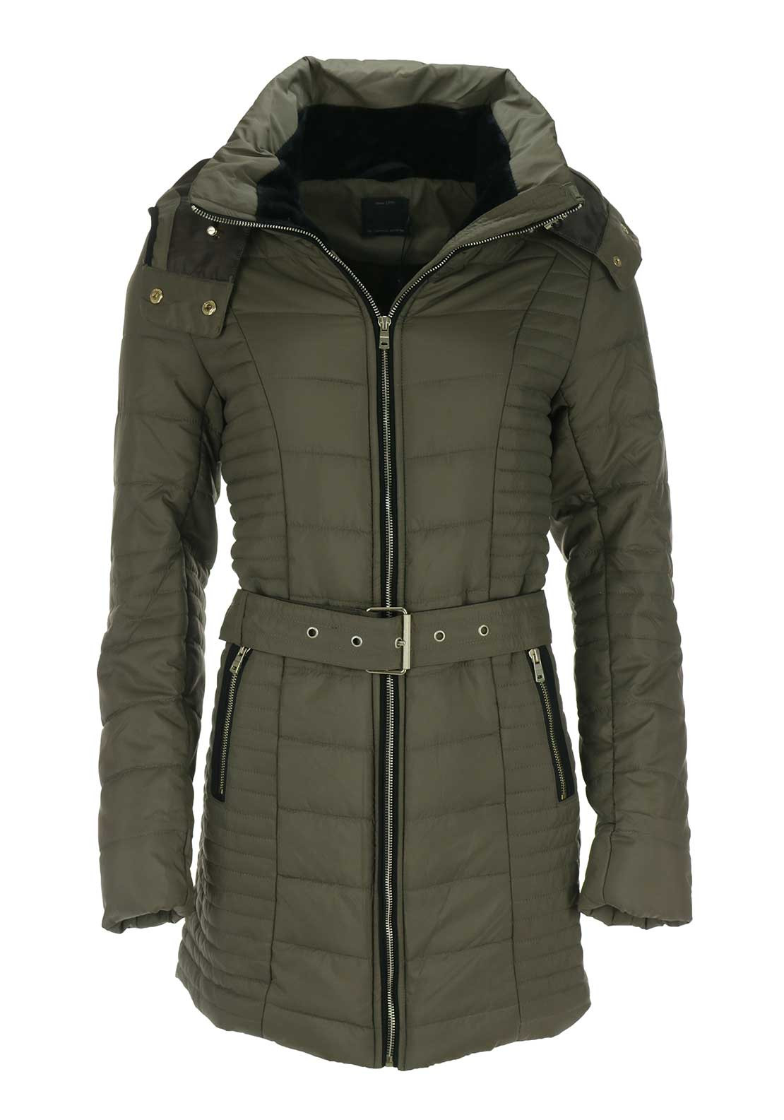 Only Adriatic Long Padded Coat, Green