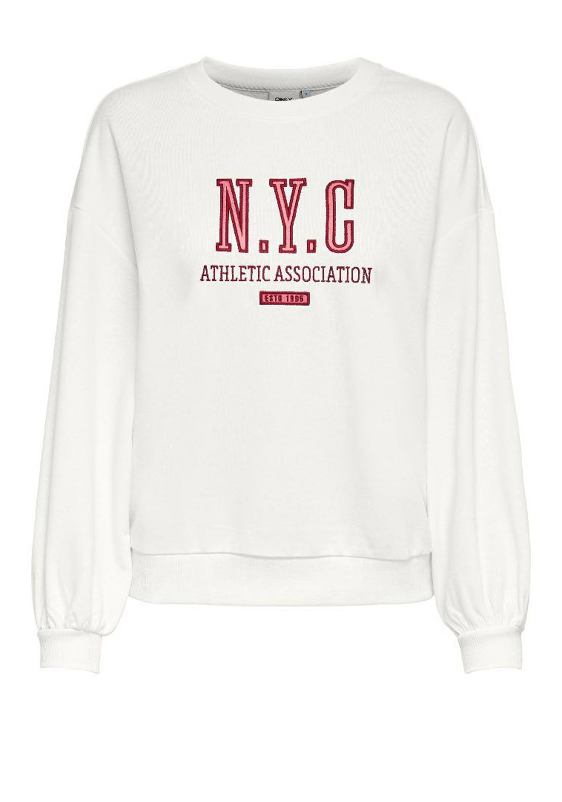 Only  Eda Life L/S NYC Sweater White