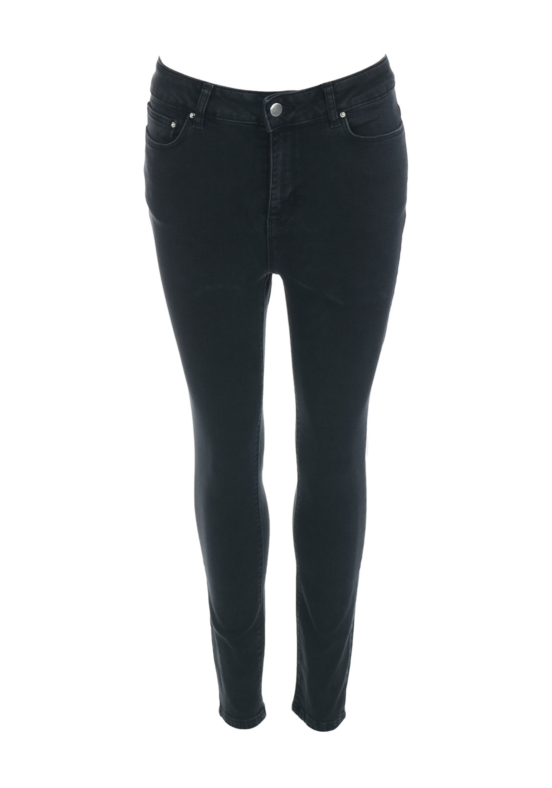 Only Studio1 High Waist Skinny Ankle Grazer Jeans, Black