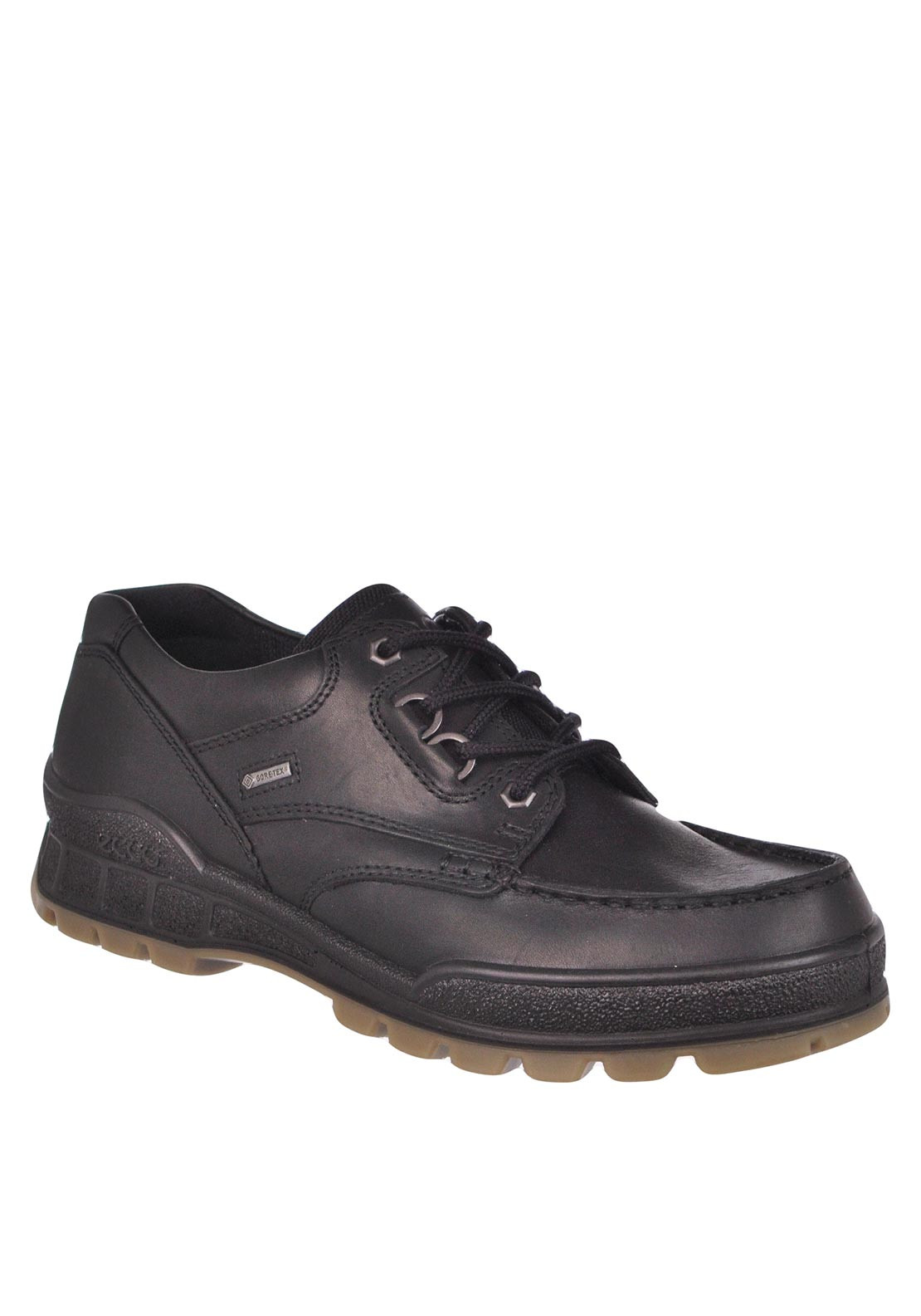 Ecco Mens Track 2 Leather Lace-Up Shoe, Black