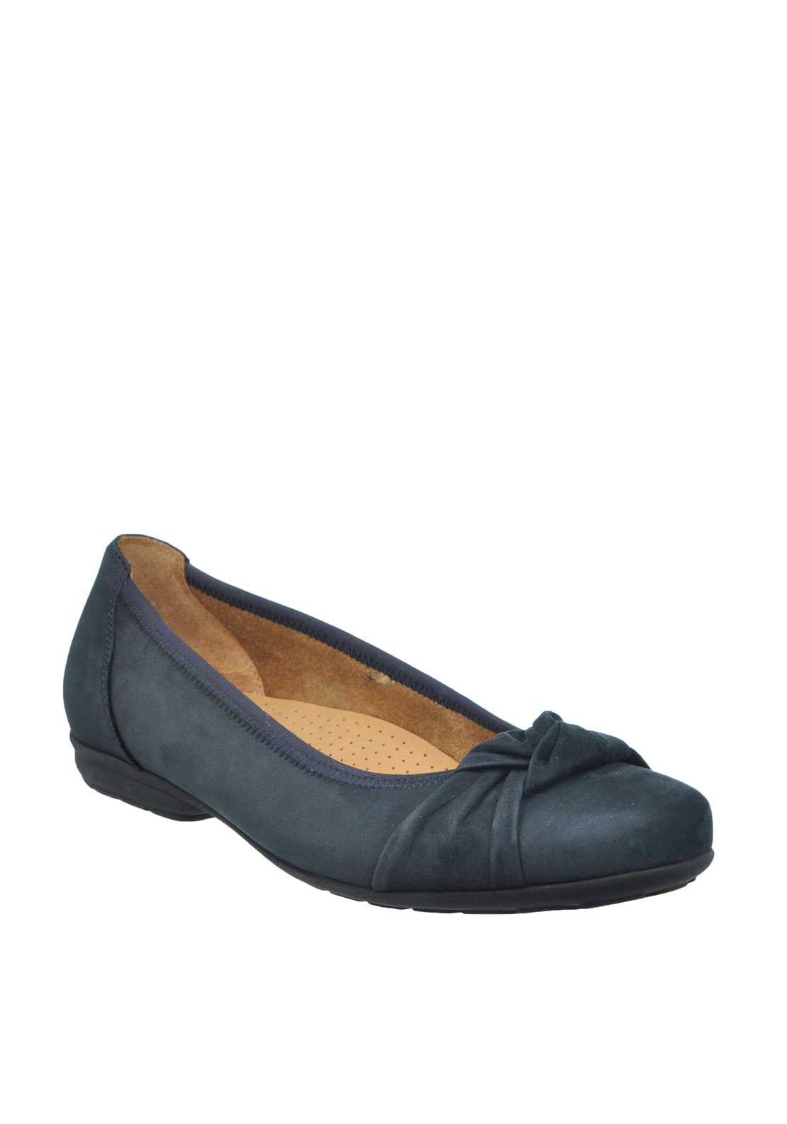 Gabor Suede Ruched Pumps, Navy