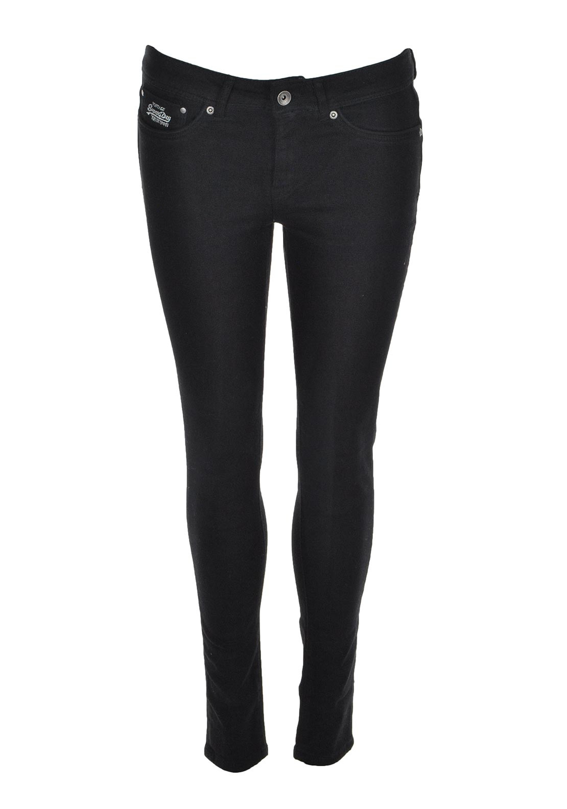Superdry Womens Second Skin Skinny Jeans, Black
