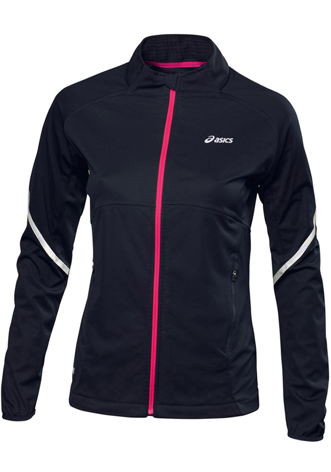 Asics Women's Gore Windstopper Jacket, Performance Black/Pink Glow
