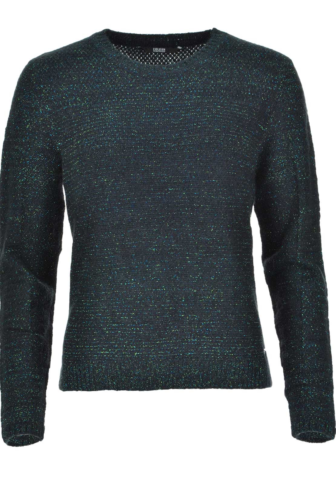 Tiffosi Julia Glitter Knitted Zip Detail Jumper, Green