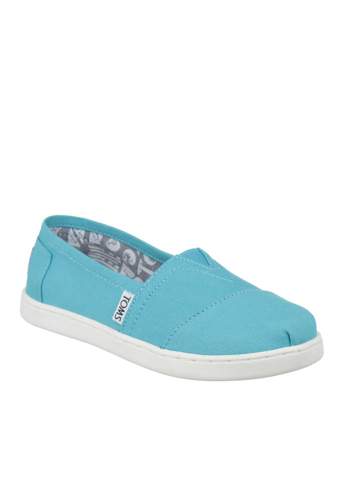 TOMS Kids Classics Slip on Canvas Shoes, Blue