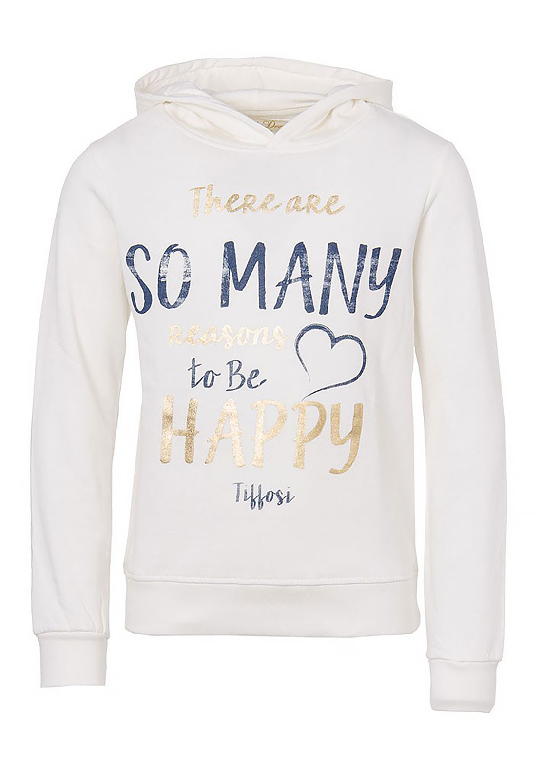 Tiffosi Girls Reasons to be Happy Hoodie, Cream