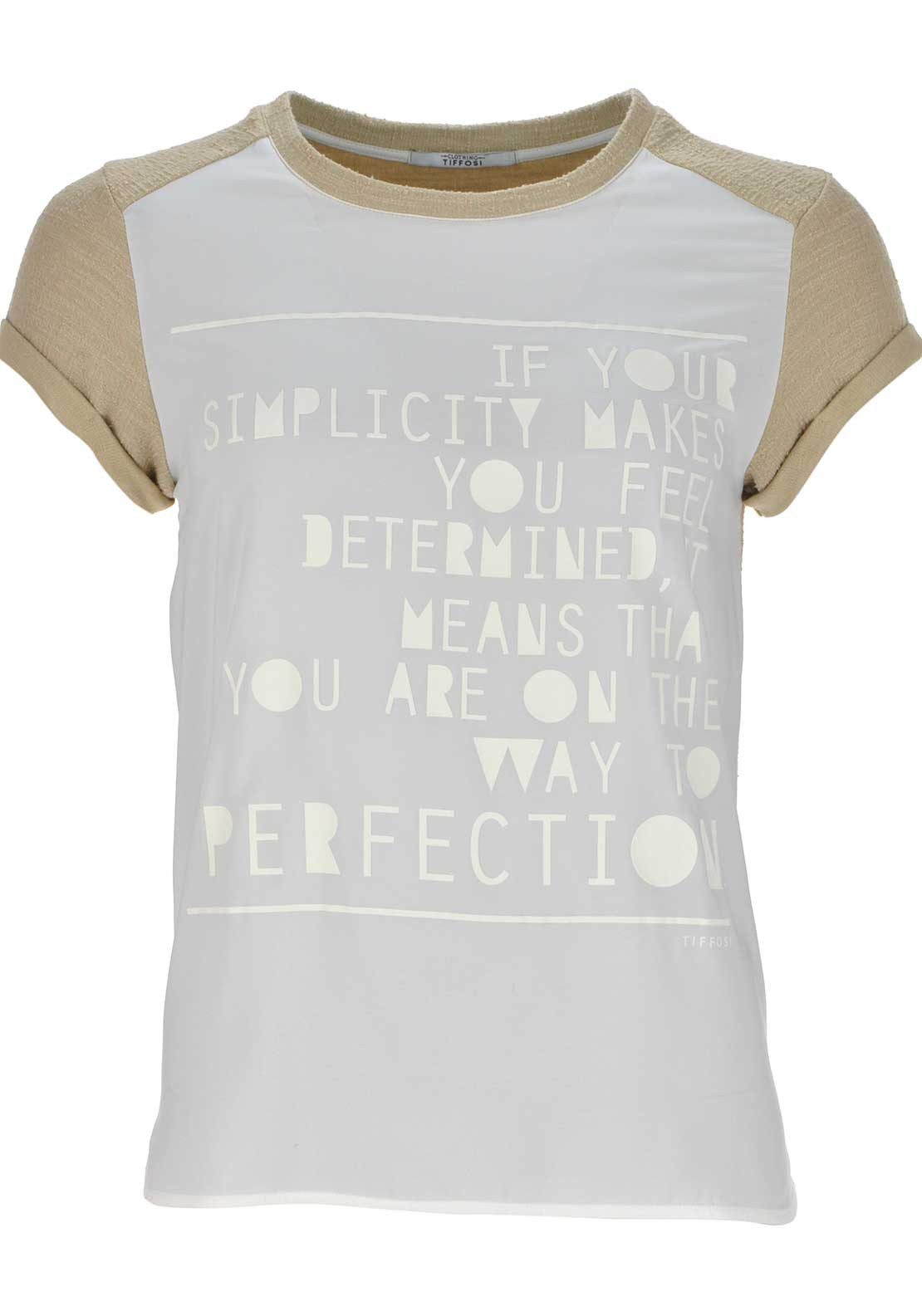 Tiffosi Womens Fresh Quote Panel Top, White
