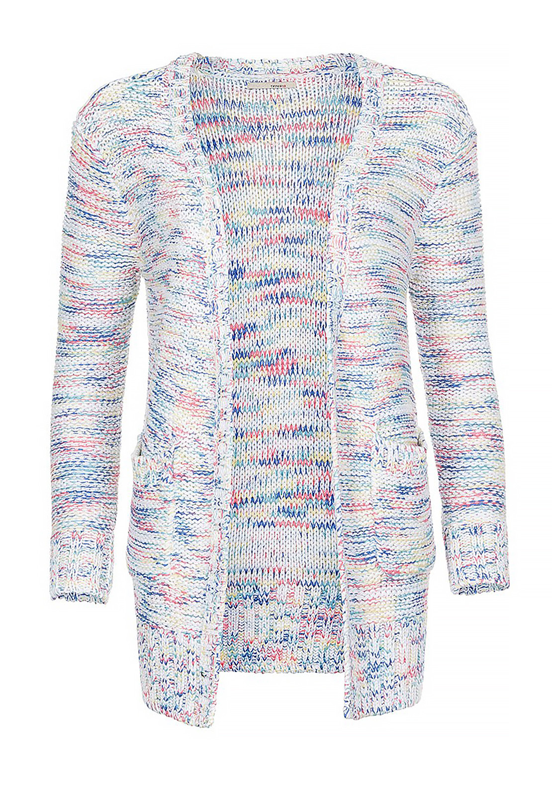 Tiffosi Womens Newcastle Rainbow Knitted Cardigan, Multi-Coloured