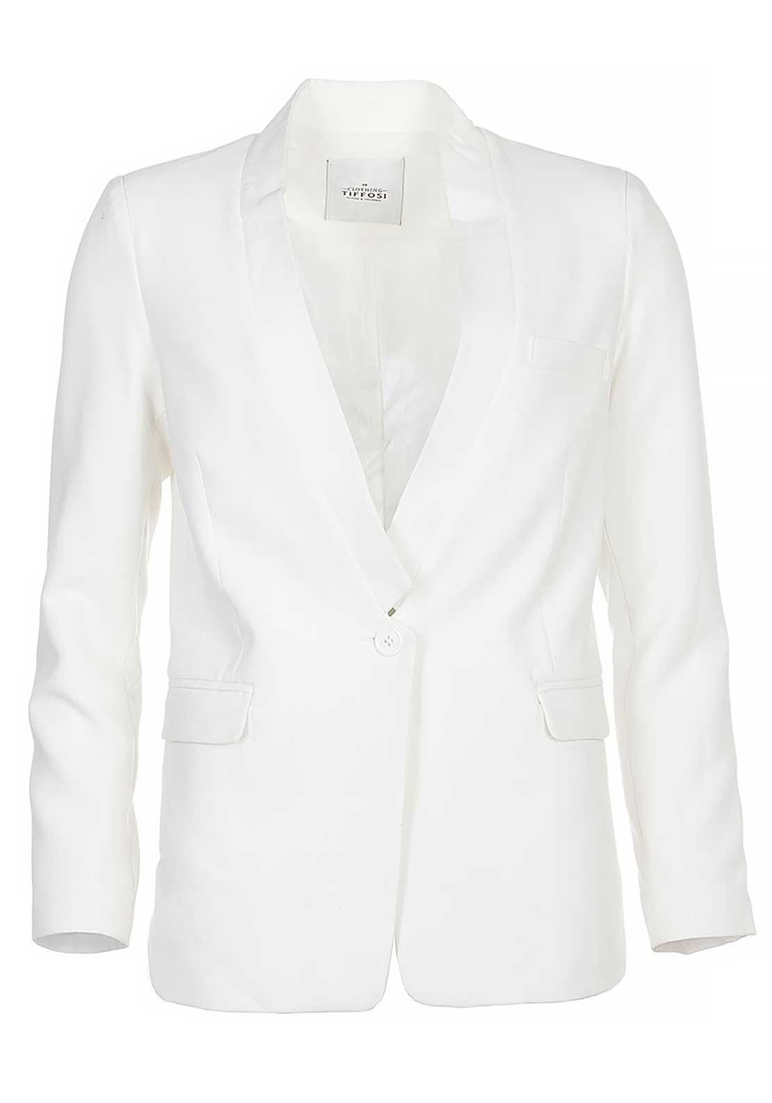 Tiffosi Womens Hagen Blazer Jacket, White