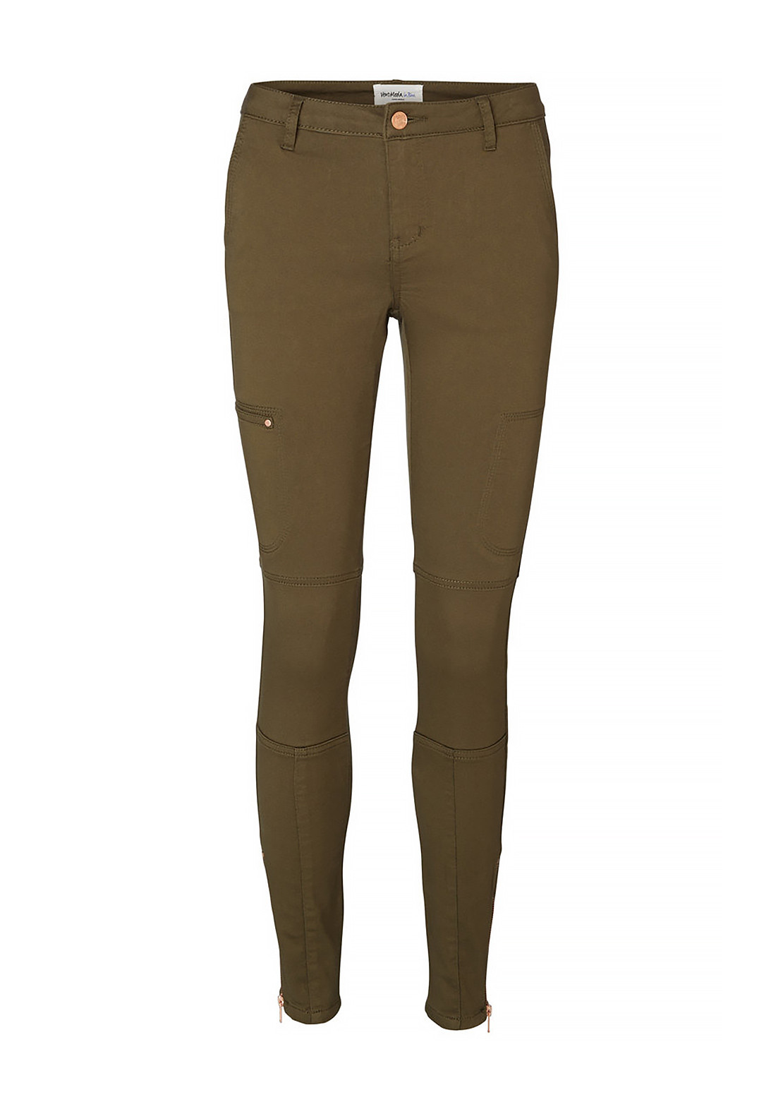 brand new 21aa1 6d897 Vero Moda Skinny Cargo Ankle Legging Trousers, Ivy Green