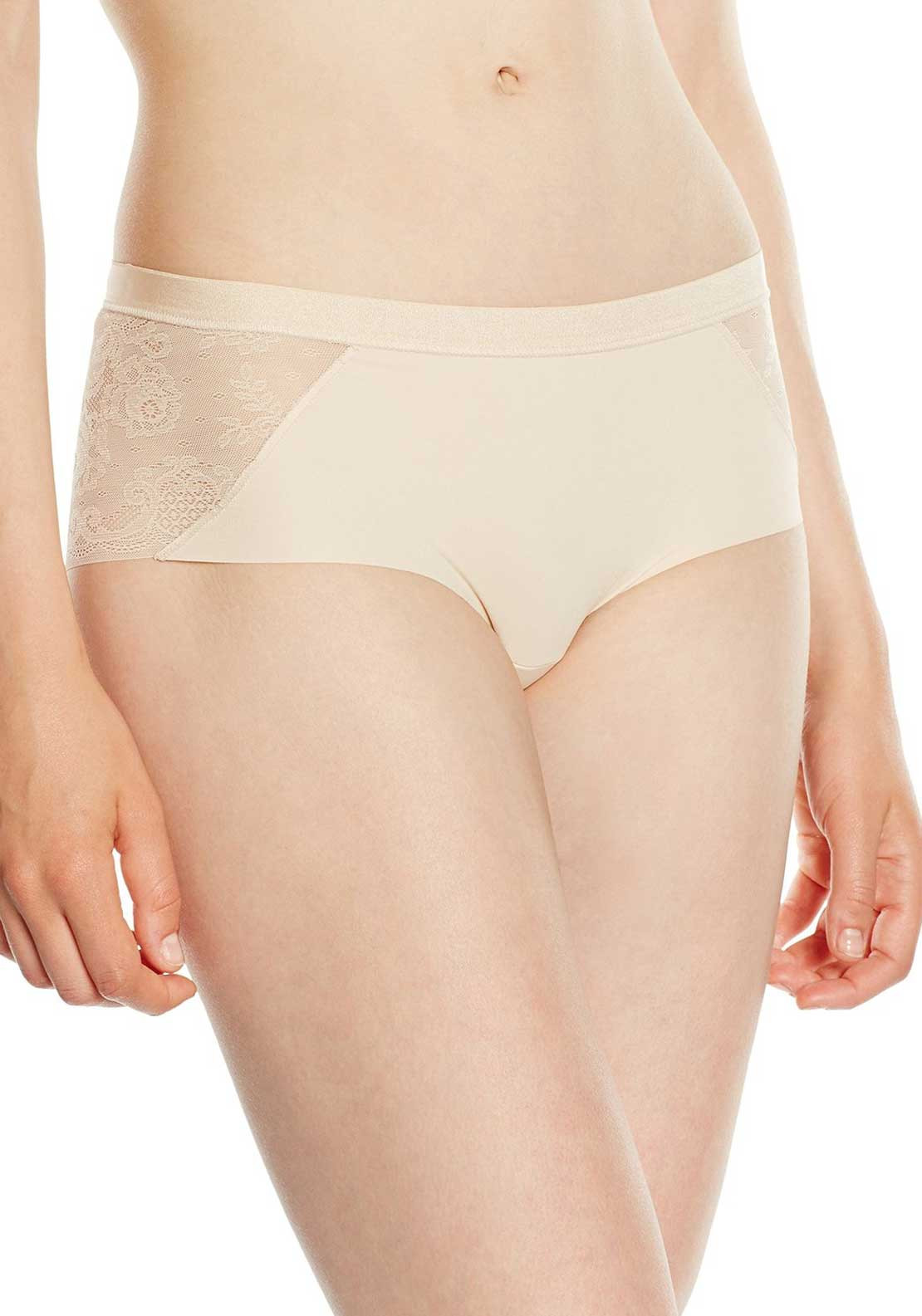 Sloggi Touch It Trend Lace Trim Hipster Shorty Brief, Nude