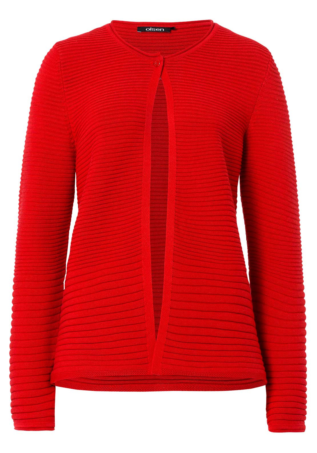 Olsen Relaxed Fitting Cardigan Red