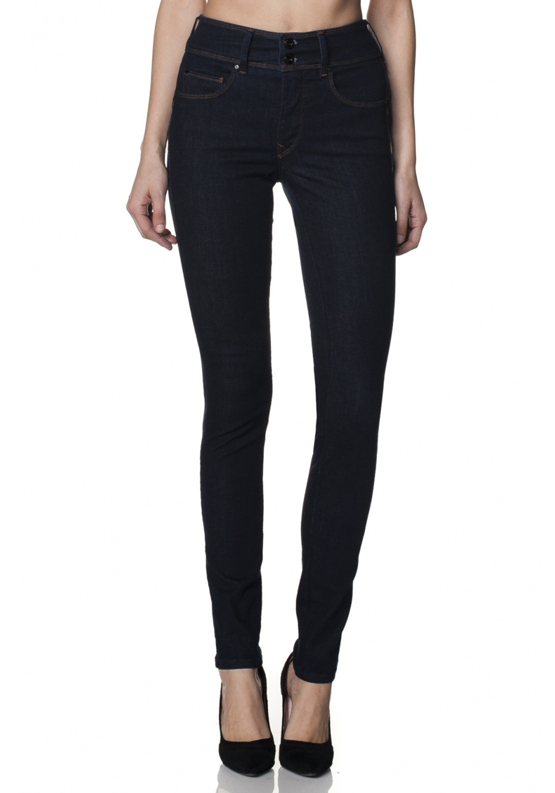 Salsa Secret Skinny Push In Slim Leg Jeans, Dark Navy Denim