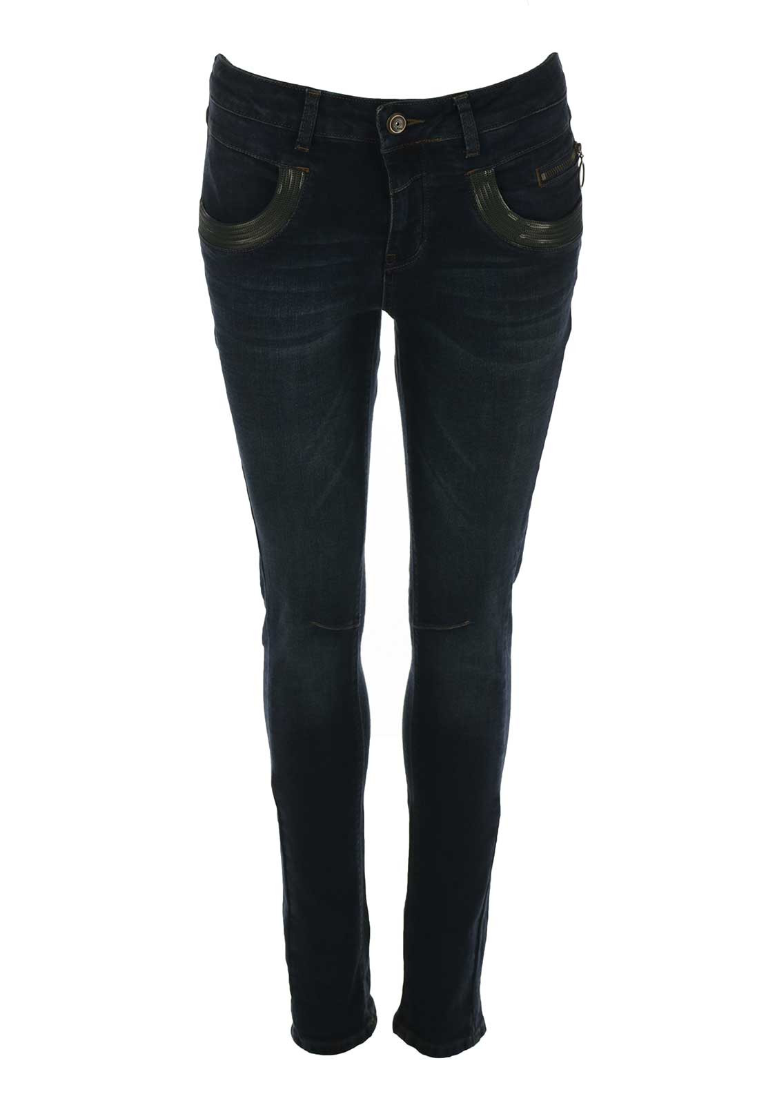 Mos Mosh Naomi Glam Slim Leg Jeans, Dark Blue Denim