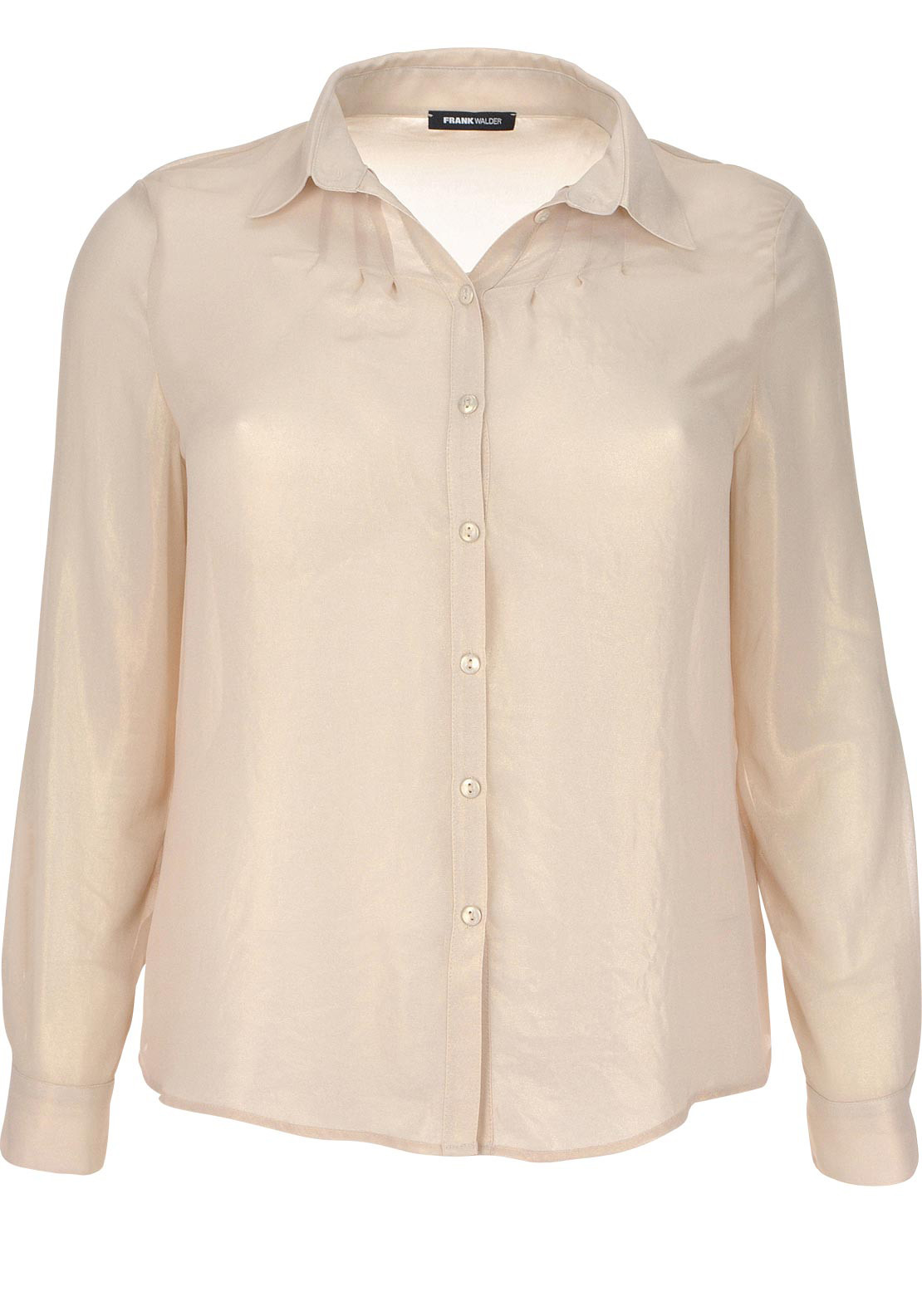 Frank Walder Sheer Chiffon Blouse, Gold