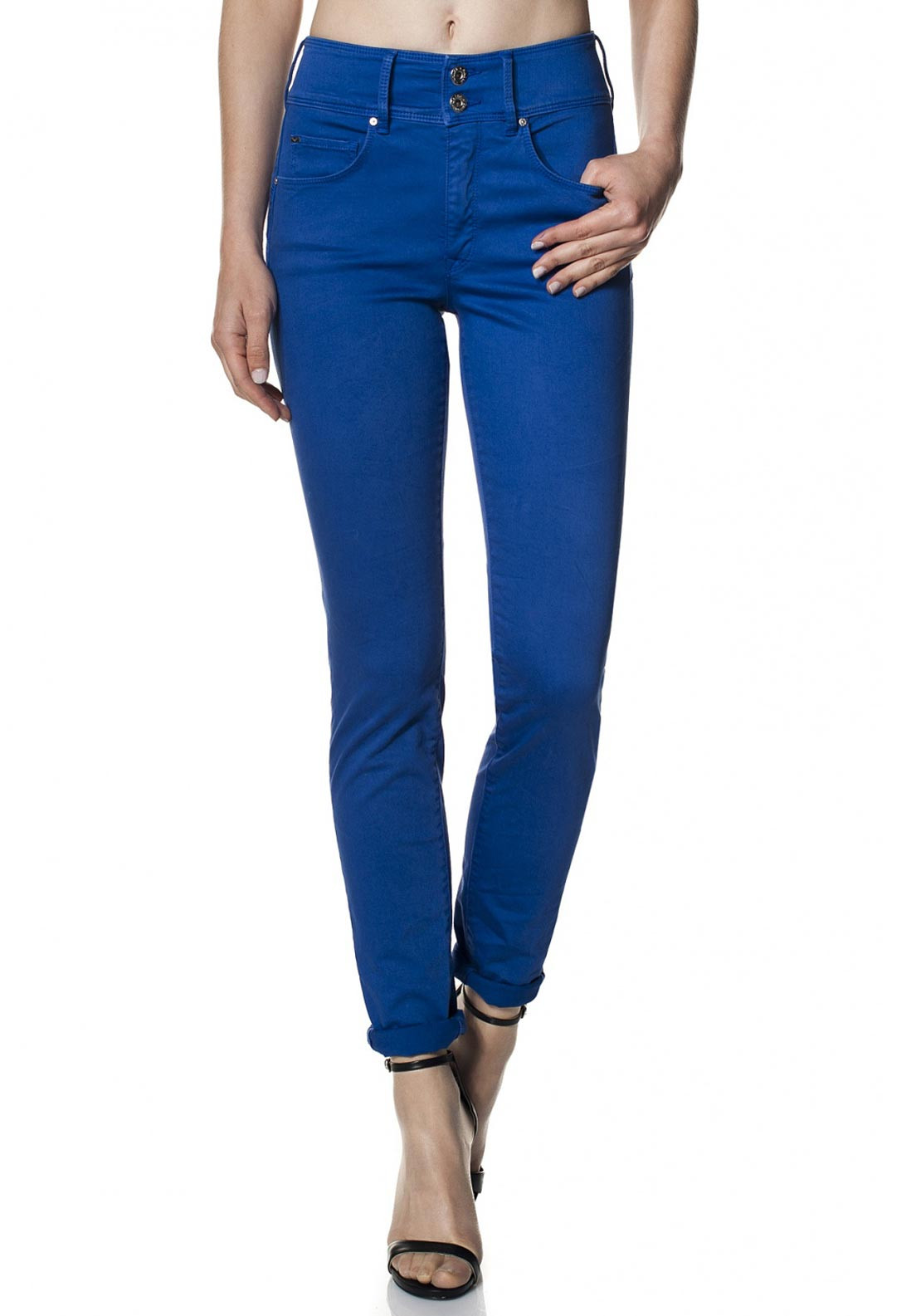 Salsa Secret Push In High Waist Jeans, Exotic Blue