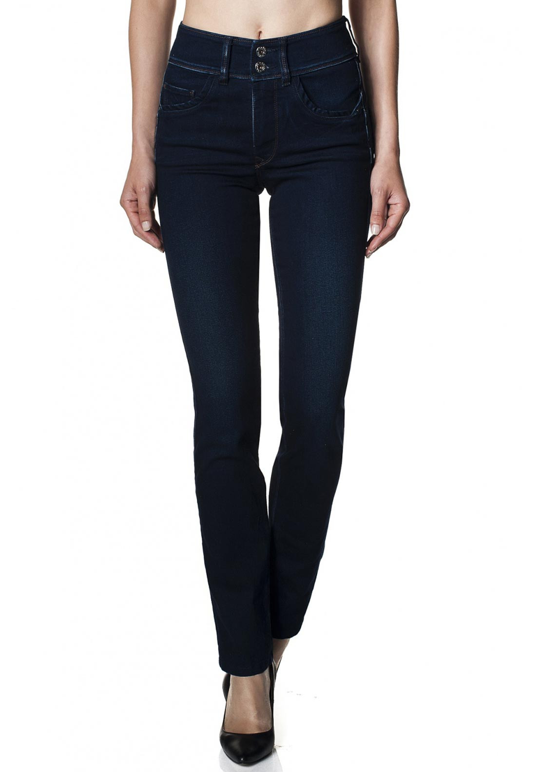 Salsa Secret Push In High Waist Slim Leg Jeans, Dark Blue
