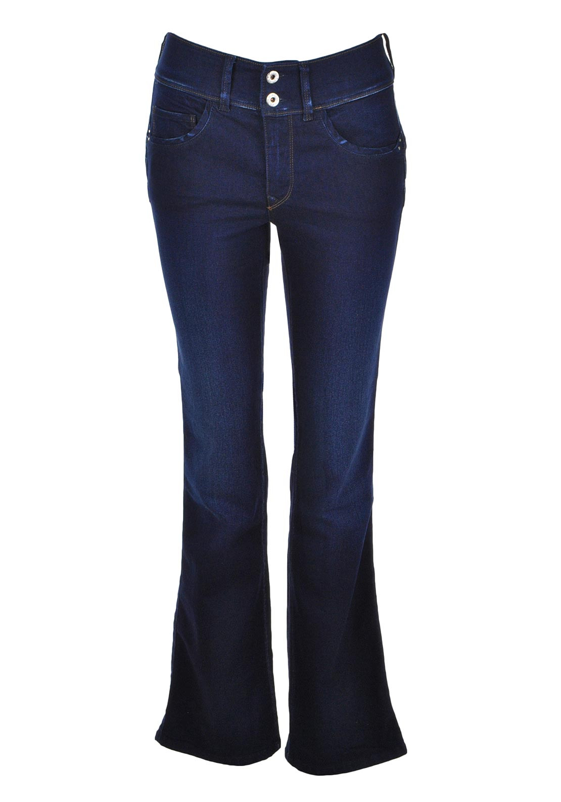 Salsa Secret Push in Boot Cut Jeans, Dark Blue Denim