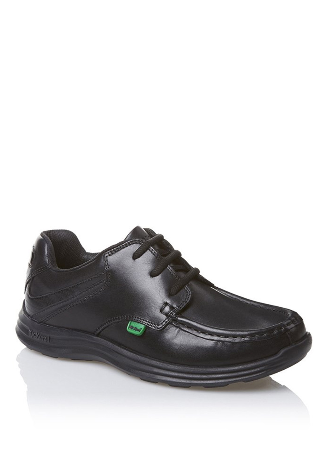 Kickers Reasan Lace up Leather Shoe, Black