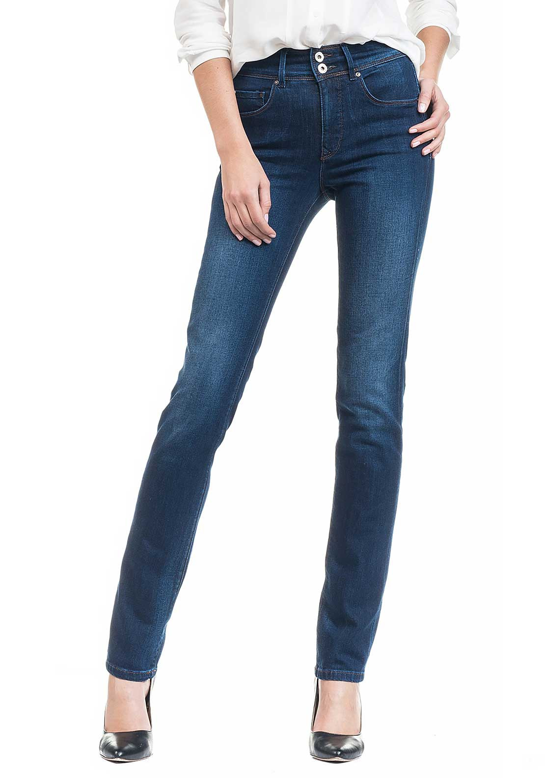 Salsa Secret Push In High Waist Slim Leg Jeans, Blue