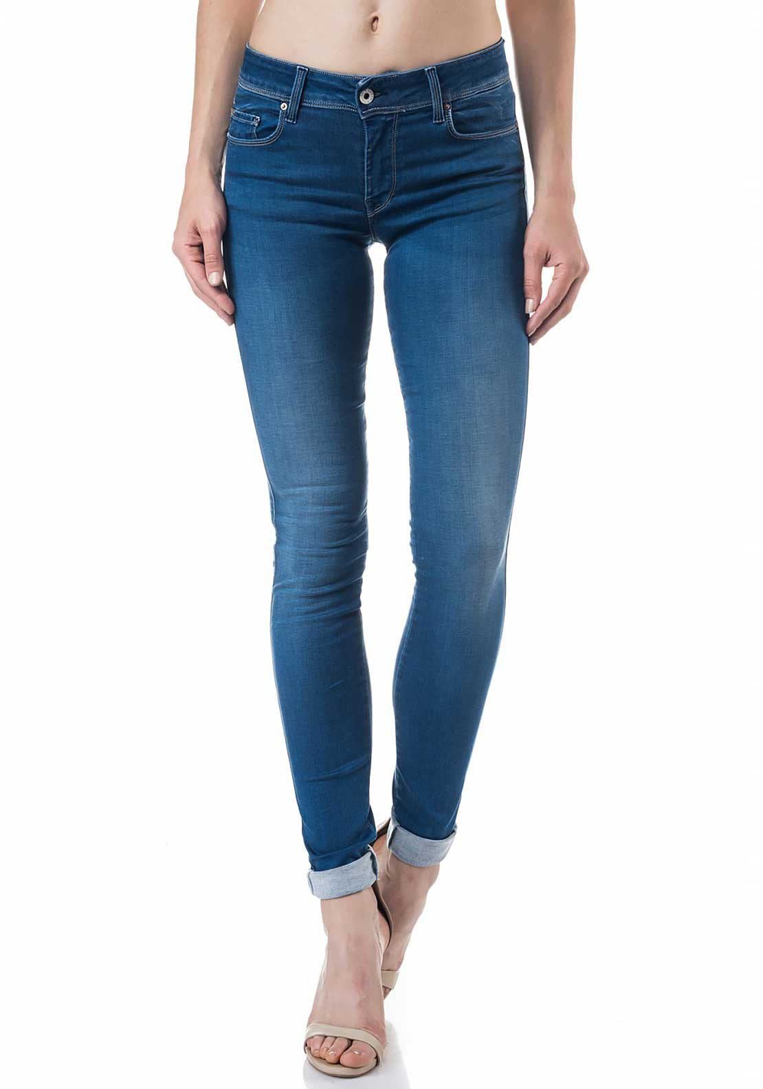 Salsa Colette Soft Touch Skinny Jeans, Medium Blue Denim