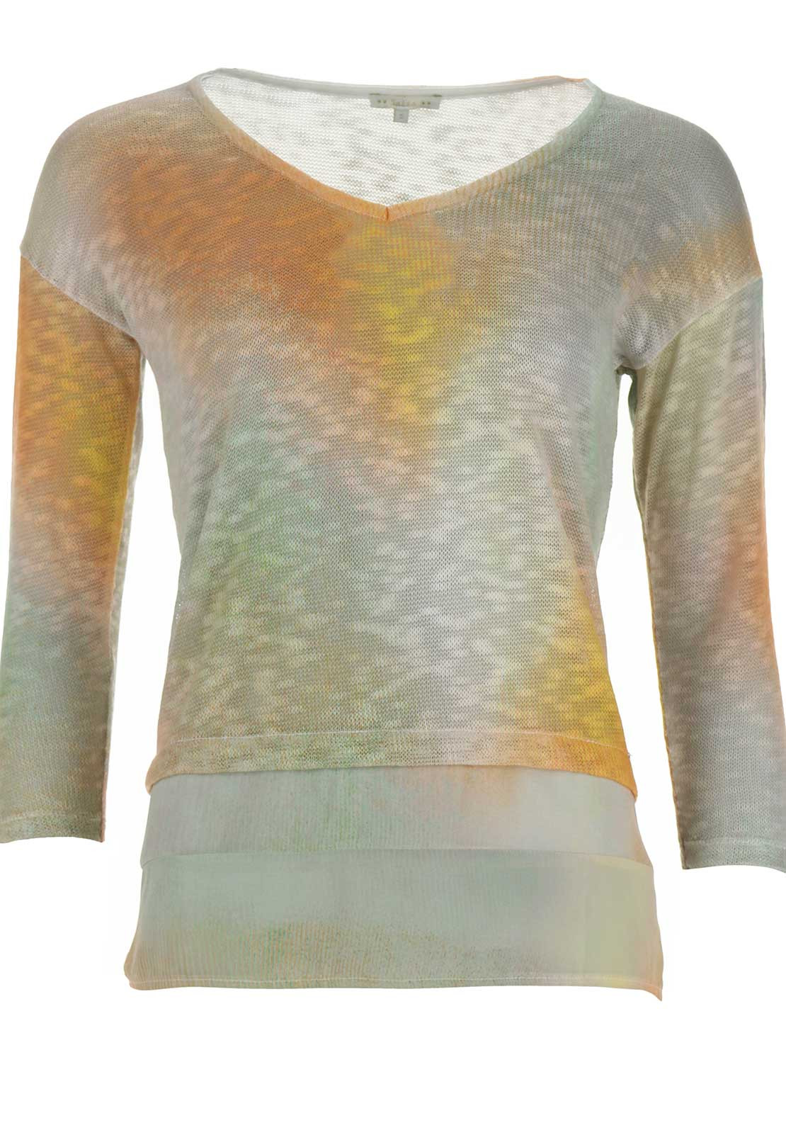 Salsa Majorca Semi Sheer Knitted Jumper, Multi-Coloured