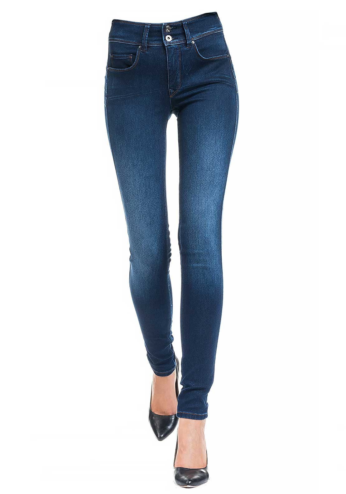 Salsa Secret High Waist Push In Skinny Jeans With Emana Denim, Blue