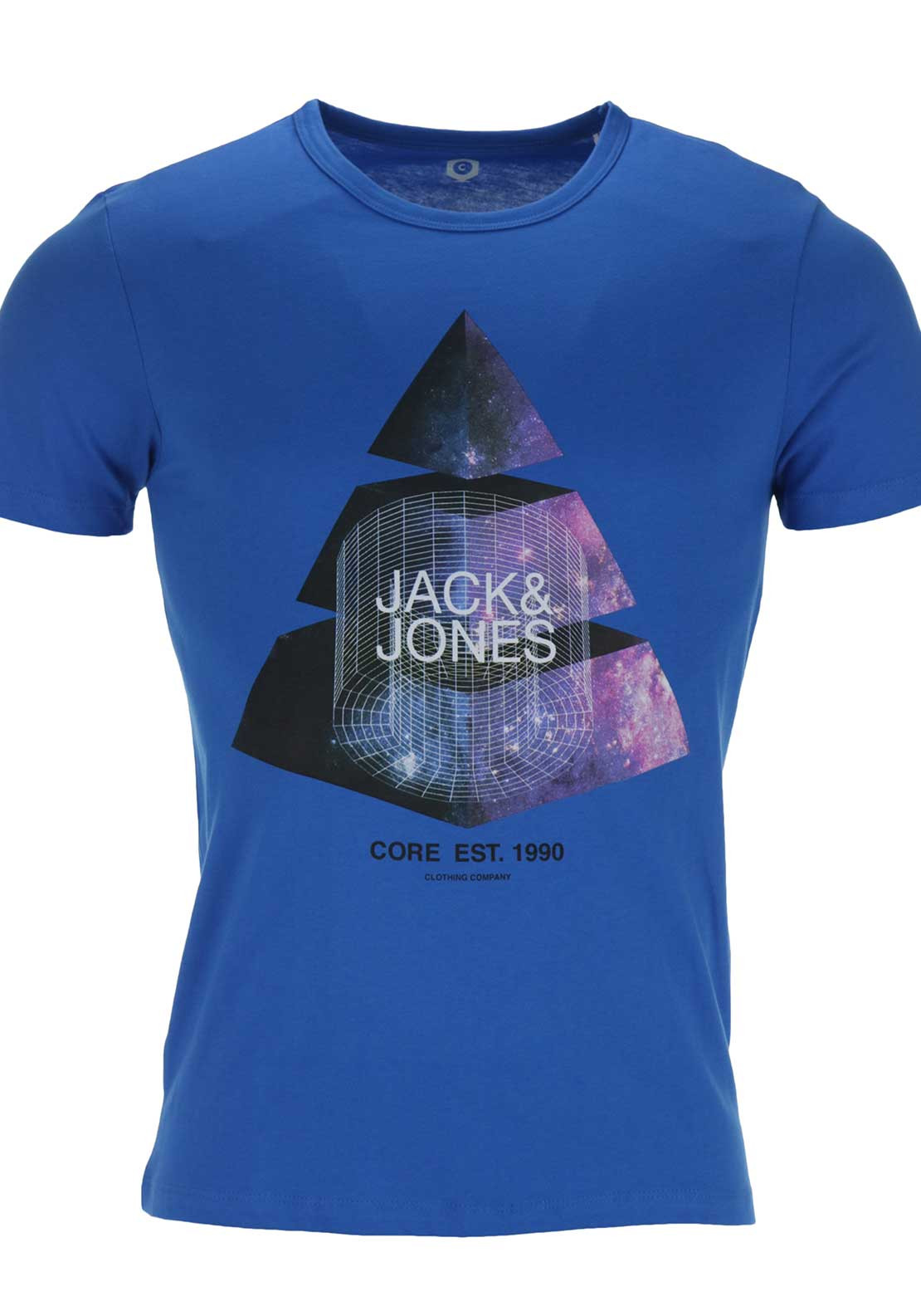 Jack & Jones Core Mens Star Crew Neck Tee, Blue