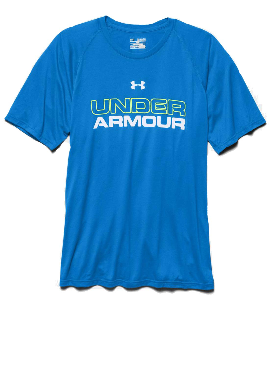 Under Armour Mens UA Core Wordmark T-shirt, Blue Jet