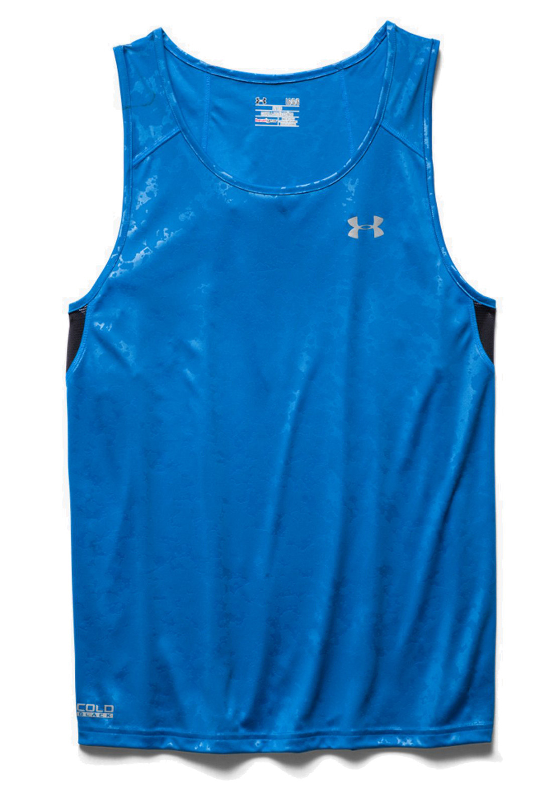 Under Armour Mens Coldback Run Singlet Vest, Blue