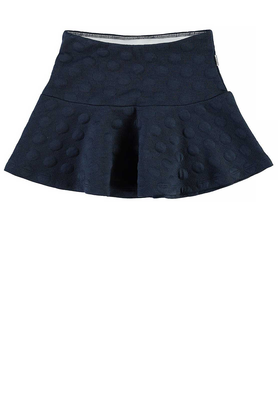 Name It Girls Embossed Dot Print Skirt, Dress Blues