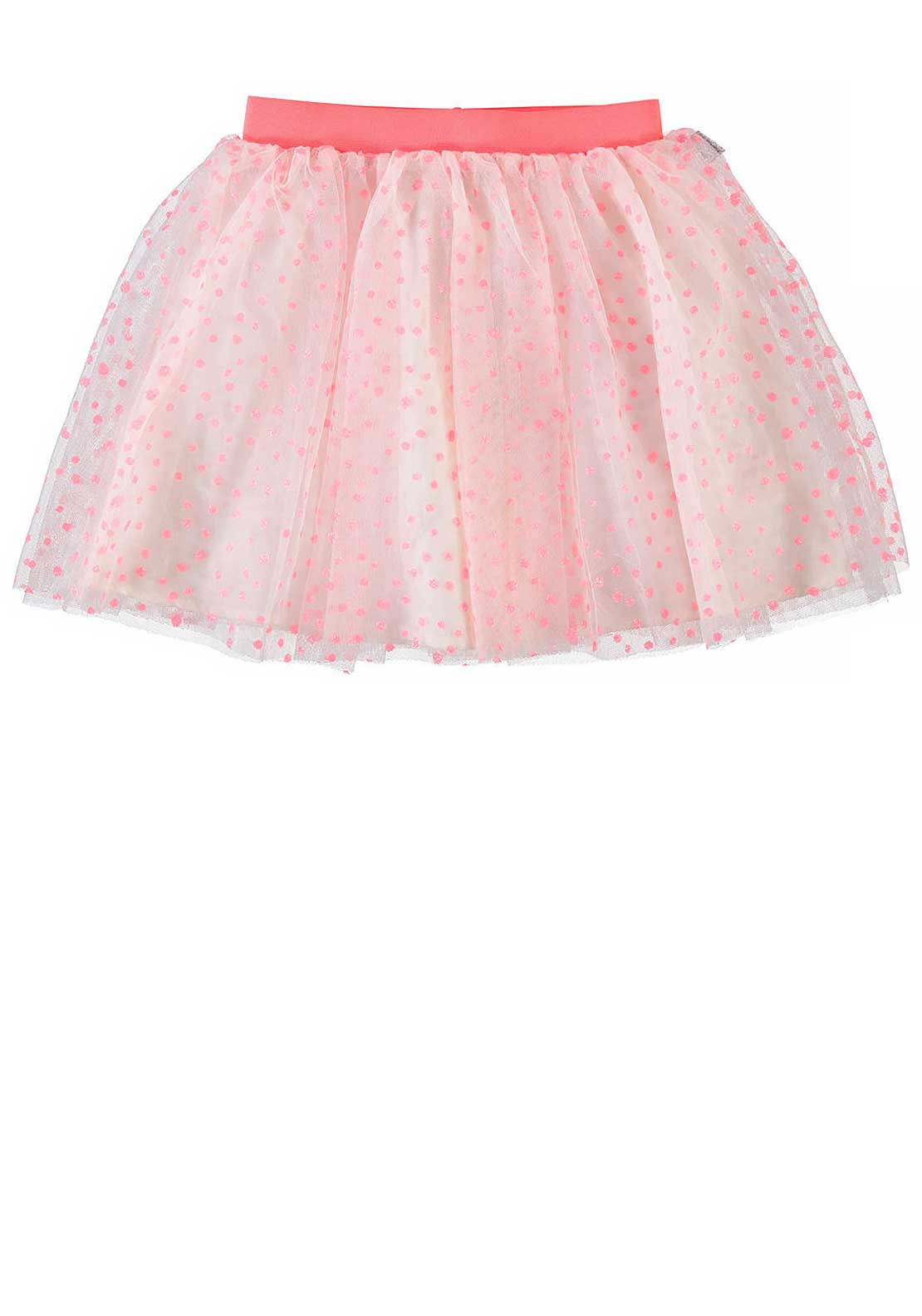 Name It Girls Glitter Tulle Skirt, Neon Coral