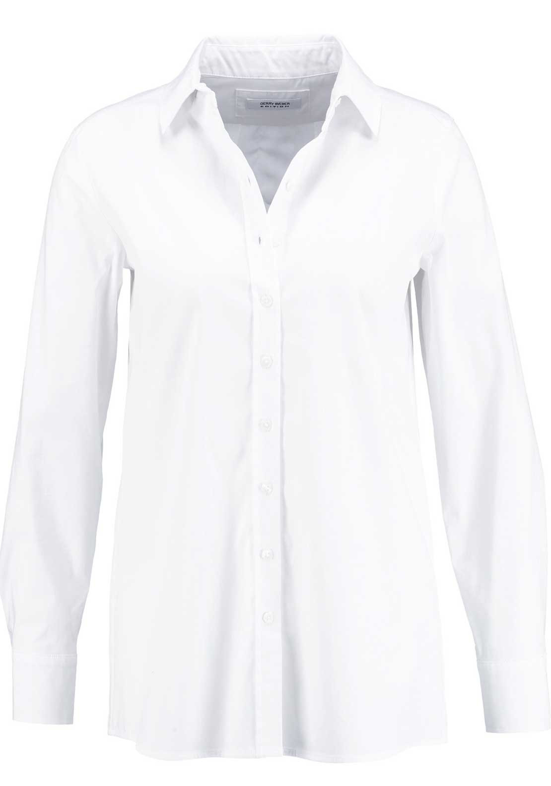 Gerry Weber Basic Fit Long Sleeve Blouse, White